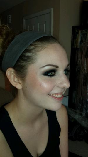 Makeup on Hannah for homecoming.