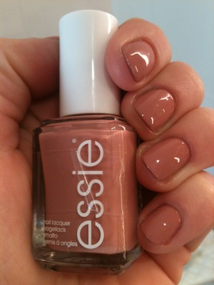 This is Essie's Eternal Optimist with a Trind Top Coat. I have used Essie's help me grow as a base coat (it's a green bottle).
