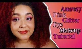 ABH Amrezy Pink Glitter Eye Makeup tutorial