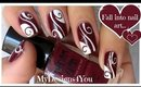 Abstract Nail Art | Burgundy Madam Glam Nails ♥ Бордовый Дизайн Ногтей