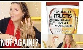AGAIN ?! 😬 GARNIER FRUCTIS COCONUT HAIR FOOD TESTED #TreatmentTuesday