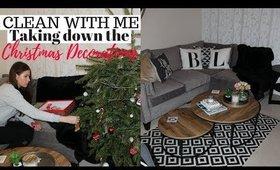 CLEAN WITH ME UK - Taking Down the Christmas Decorations