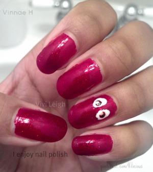 Eyeballs... ^^  Only nail polish I really couldn't tag was Orly Star Spangled.