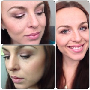 Soft, pink lips and eyes using Lorac Pro Palette and Naked 3.