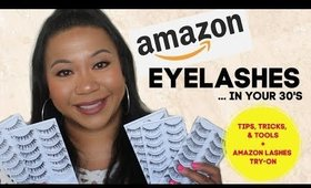 Eyelashes In My 30's: Tips, Tricks, & Tools + Amazon Lashes Try-On (6.11.19) | Tina Roxanne