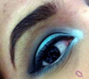 Eye look inspired by March's birthstone. Great look for Spring!