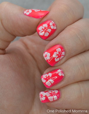 http://onepolishedmomma.blogspot.com/2015/05/hibiscus-floral-stamping.html