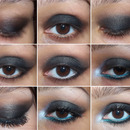 Black Smokey eye with touch of green