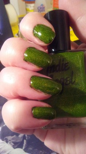 Nail color Grinch from the Etsy shop: shopIndieAngel