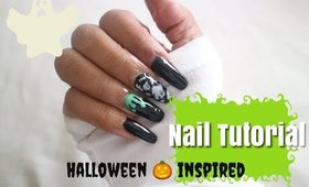 Quick Festive Nails | Halloween Nails | Poly Gel Nail Tutorial