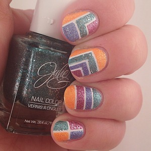I used Julie G frosted gumdrops polishes for this look, which I did for Textured Tuesday. If you'd like to join, follow the link in my bio to find out how. :)