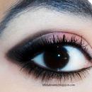 Black/Rose eye make up