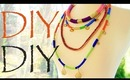 DIY Colorblock Rope Necklaces - Ethnic Inspired Fashion