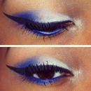 Blue And White Eyemakeup