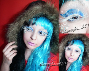 Just a makeup with blue white and snow flakes. Lashes from Blync Lashes.
