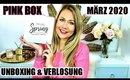 Pink Box März 2020 - Unboxing & Verlosung