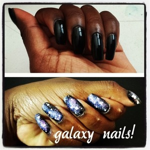 My Galaxy nails creation!
