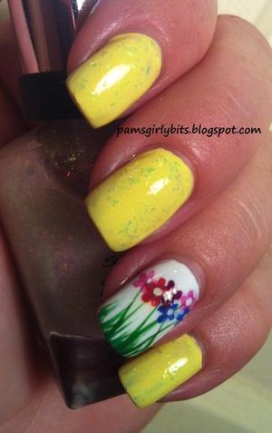flowers nail art 125