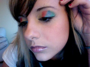 zoomed out on my twister themed eyes. i also miss this hair :(