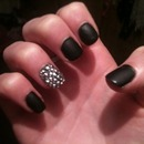 matte black with full diamonté