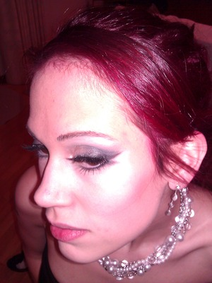 Super old picture that I found back when I had long hair...Double flare eyeliner.