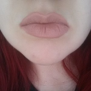 Anastasia Beverly Hills Liquid Lipstick in the shade Pure Hollywood. Applied to bare lips. Photo was taken in natural light.