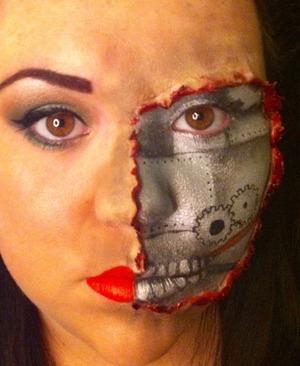 Peeling face .