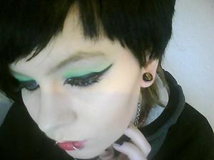 Light Green & Dark Green Eyeshadows