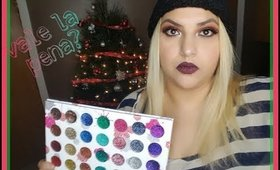 reseña paleta splash of glitters beauty creations + look navideño