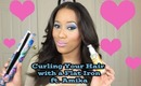 How to Curl Hair with a Flat Iron & Amika Products Review