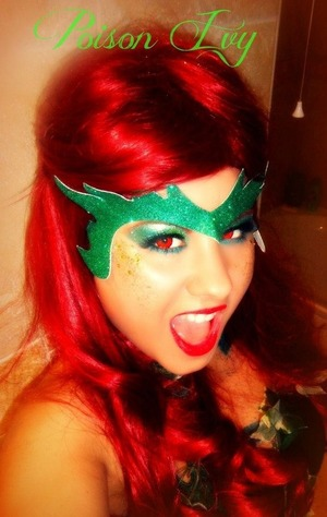 Fancy dress poison ivy look using mac make up :)