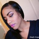 FOTD: Brown & Copper Eyes + Purple Glitter
