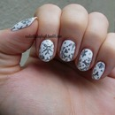 Matte White And Silver Snowflakes