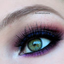 Blue/purple smokey eye