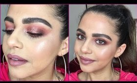 Copper Glitter Eyes / Mauves Makeup Tutorial ♡ Bad Habit Athena Palette