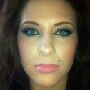 Gold, Purple, and Blue Eyes with a Nudy Pink Lip!
