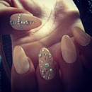 Rhinestone and Nude Color :)