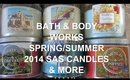 REVIEW HAUL: BATH & BODY WORKS 2014 SPRING / SUMMER SEMI ANNUAL SALE ( CANDLES & MORE )
