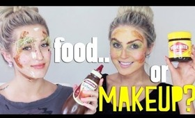 Household Makeup Challenge (FOOD Only!) ♡ ft Karissa Pukas