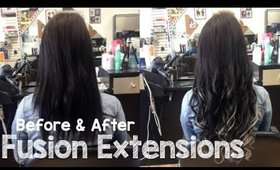 Fusion Extensions - Before & After Transformation | Instant Beauty ♡