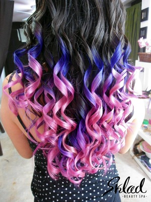 That's a ombre hair, purple and pink and i love it.