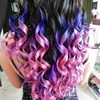 Purple and pink ombre hair.