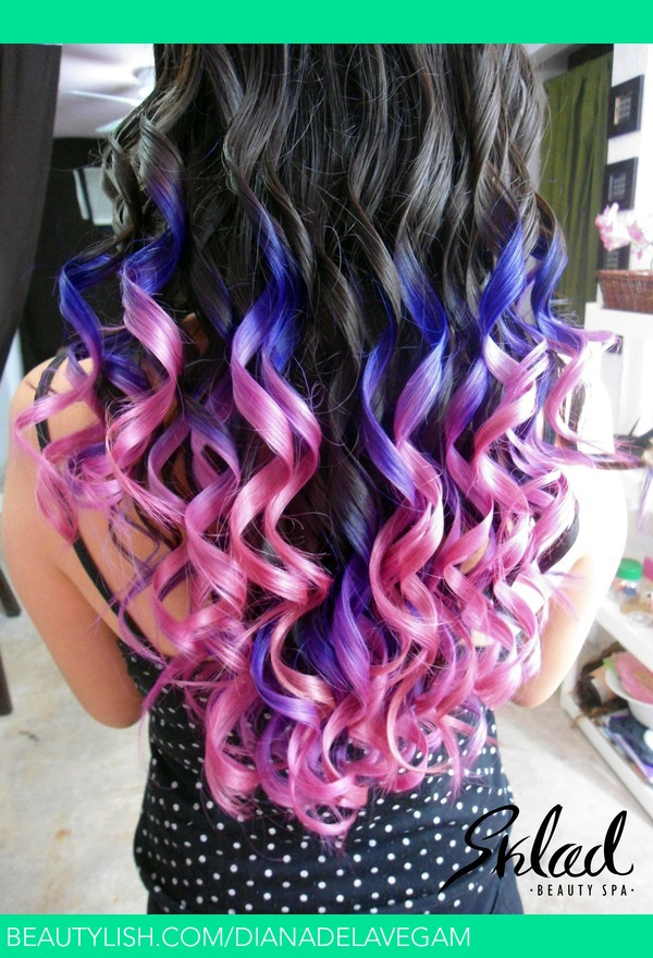 purple and pink ombre hair diana ds dianadelavegam