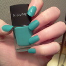 Green nail polish with blue undertones