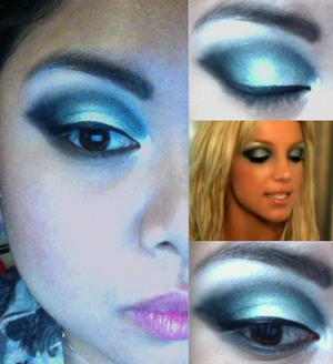 Eye look inspired by Britney Spears' I'm a Slave 4 U