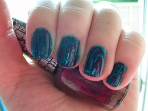 OPI Fly and Super Bass Shatter Polish from the Nicki Minaj Collection.  To read my review of the polishes and to see other swatches from the collection please visit my blog:  http://www.mazmakeup.blogspot.com