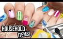 10 Nail Art Designs Using HOUSEHOLD ITEMS! | The Ultimate Guide #9