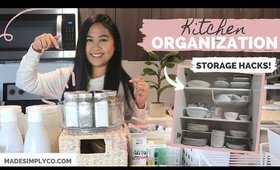 How To Organize Your Kitchen! QUARANTINE PROJECT | Storage and Hacks