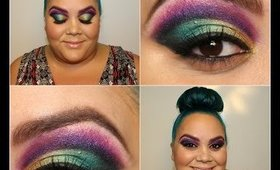 Colorful Cut Crease and Contouring