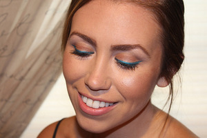 Full post including tutorial & what products were used: http://livingaftermidnite.blogspot.com/2013/07/blue-cat-eye-makeup.html